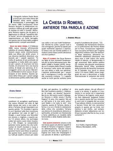Page 8 of LA CHIESA DI ROMERO ANTIEROE TRA PAROLA E AZIONE DI ANDREA MULAS