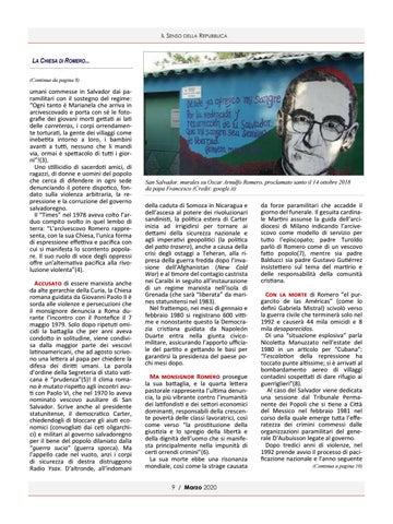 Page 9 of LA CHIESA DI ROMERO ANTIEROE TRA PAROLA E AZIONE DI ANDREA MULAS