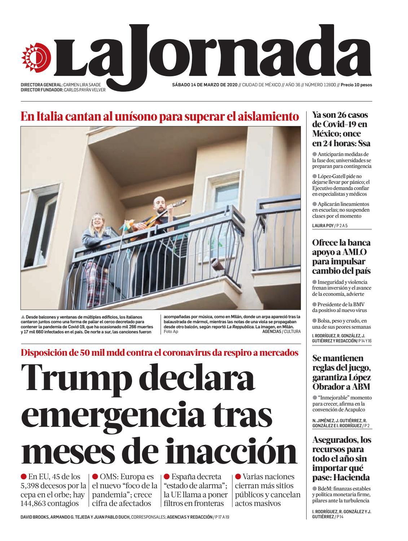Amables Antes La Vecina la jornada, 03/14/2020la jornada - issuu