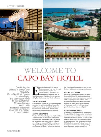 Page 148 of LEISURE. Welcome to Capo Bay Hotel