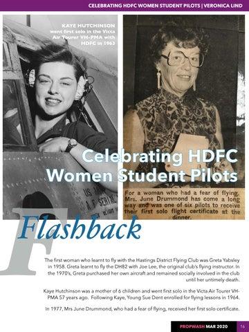 Page 16 of FLASHBACK HDFC Women Student Pilots Avro 504K biplane
