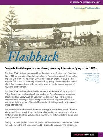 Page 17 of FLASHBACK HDFC Women Student Pilots Avro 504K biplane