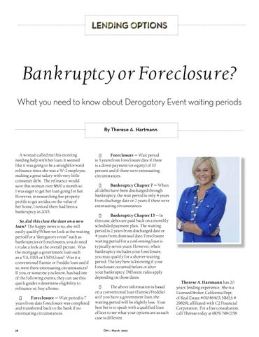 Page 28 of Bankruptcy or Foreclosure?