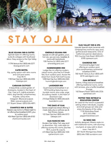 Page 36 of Stay Ojai — Hotels Guide