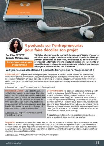 Page 11 of 4 podcasts sur l'entrepreneuriat pour faire décoller son projet