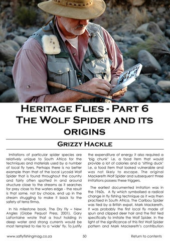 Page 47 of  The Wolf Spider and its origins Heritage Flies - Part 6