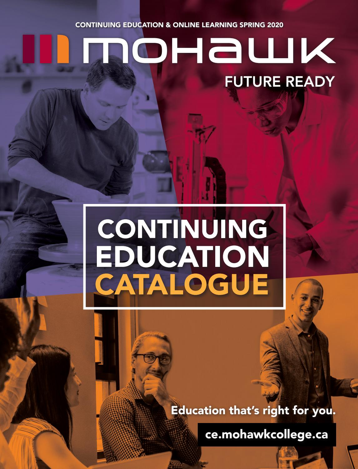 Mohawk College Continuing Education Catalogue Spring 2020 By Mohawk College Issuu