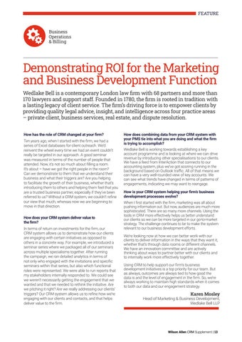 Page 13 of Demonstrating ROI for the Marketing and Business Development Function