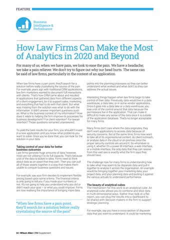 Page 14 of How Law Firms Can Make the Most of Analytics in 2020 and Beyond