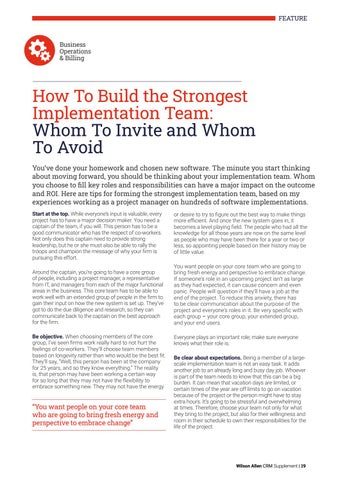 Page 19 of How To Build the Strongest Implementation Team