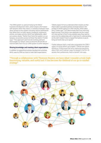 Page 31 of Beyond Table Stakes: Innovative Strategies for Driving Client Engagement at Mintz