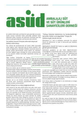 """Page 23 of Harun ÇALLI """"Tüketici sağlığı göz ardı edilerek sütte her"""