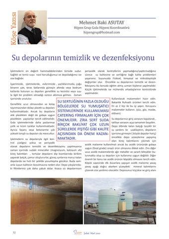 """Page 34 of M.Baki ASUTAY """"Su depolarının temizlik ve dezenfeksiyonu"""