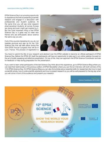 Page 21 of EPSA Science Day