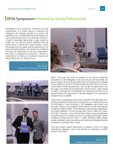 Page 25 of EPSA Symposium Powered by Young Professionals