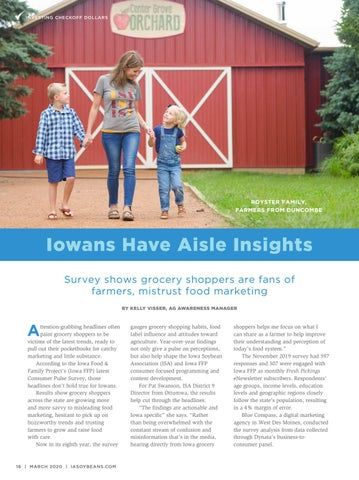 Page 16 of Iowans Have Aisle Insights