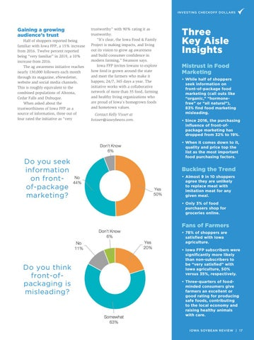 Page 17 of Iowans Have Aisle Insights
