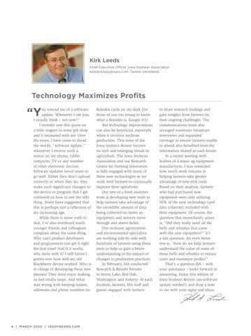 Page 4 of Technology Maximizes Profits