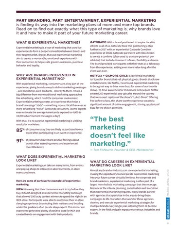 Page 11 of Experiential Marketing: When Brands Become the Entertainment