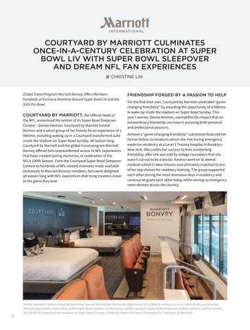 Page 12 of Courtyard by Marriott Culminates Once-in-a-Century Celebration at Super Bowl LIV with Super Bowl Sleepover and Dream NFL Fan Experiences