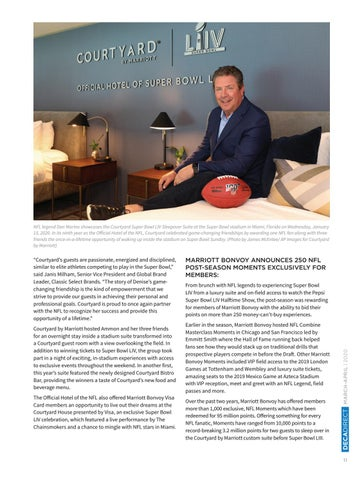 Page 13 of Courtyard by Marriott Culminates Once-in-a-Century Celebration at Super Bowl LIV with Super Bowl Sleepover and Dream NFL Fan Experiences