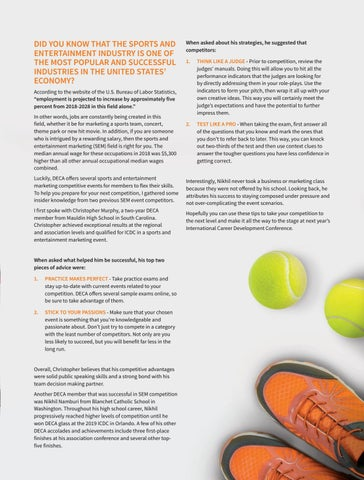 Page 19 of Sports and Entertainment Competition Tips from the Pros