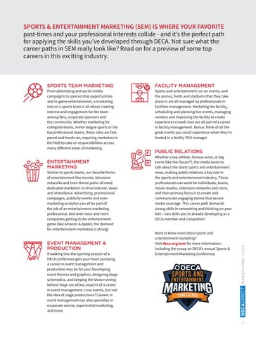 Page 9 of Career Preview: Top Roles in Sports & Entertainment Marketing