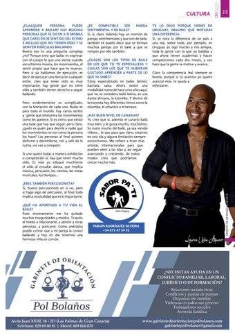 Page 15 of Fabián Rodríguez: El baile, generador de serotonina