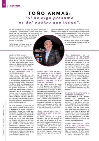 """Page 20 of Toño Armas: """"Si de algo presumo es del equipo que"""