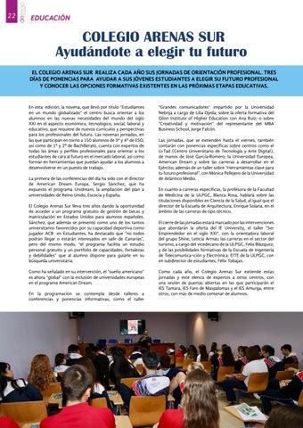 Page 22 of Colegio Arenas Sur: Ayudándote a elegir tu futuro