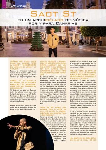 """Page 8 of SAOT ST """"En un archiPIÉLAGO de música, por y para"""