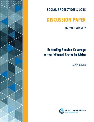 Extending Pension Coverage to the Informal Sector in Africa by World Bank  Group - Social Protection & Jobs - issuu