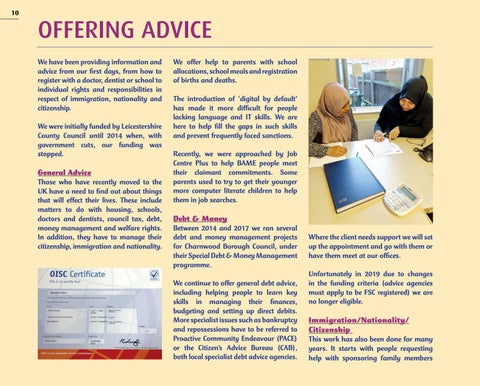 Page 10 of OFFERING ADVICE