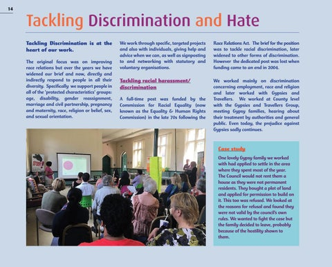 Page 14 of TACKLING DISCRIMINATION and HATE
