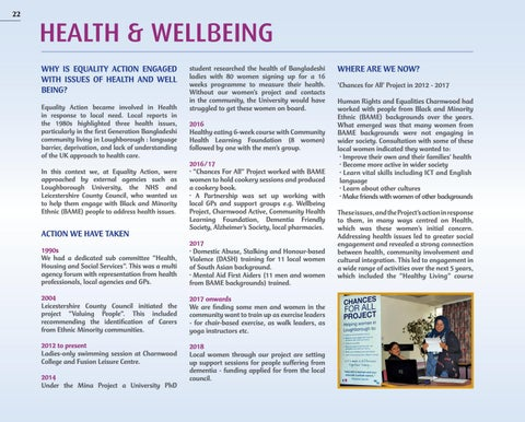 Page 22 of HEALTH & WELLBEING