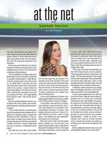 Page 10 of At The Net with Hannah Berner