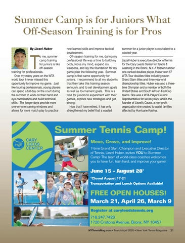 Page 33 of Summer Camp is for Juniors What Off-Season Training is for Pros