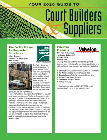 Page 63 of Your 2020 Guide to Court Builders and Suppliers