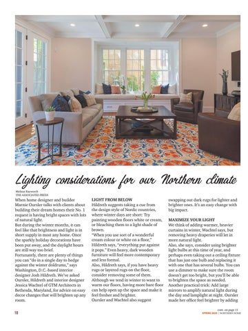 Page 10 of Lighting for our Northern climate
