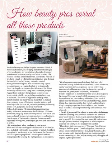 Page 12 of Corral all those beauty products