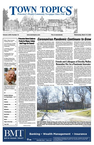 Town Topics Newspaper March 18 By Witherspoon Media Group Issuu