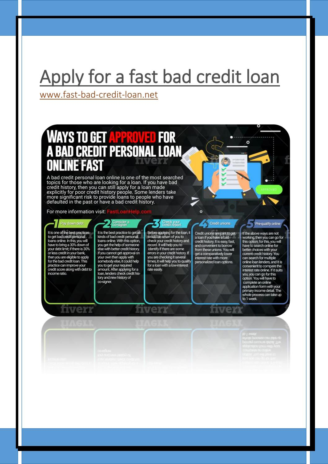 Fast Bad Credit Personal Loans For People With Bad Credit by VaN