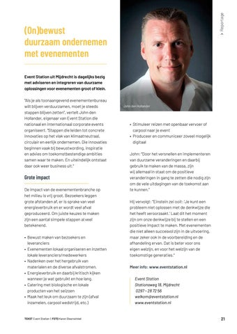 Page 21 of Groen is poen' Event Station biedt volop duurzame