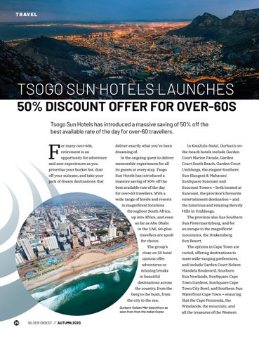 Page 20 of TSOGO SUN HOTELS LAUNCHES 50% DISCOUNT OFFER FOR OVER-60S