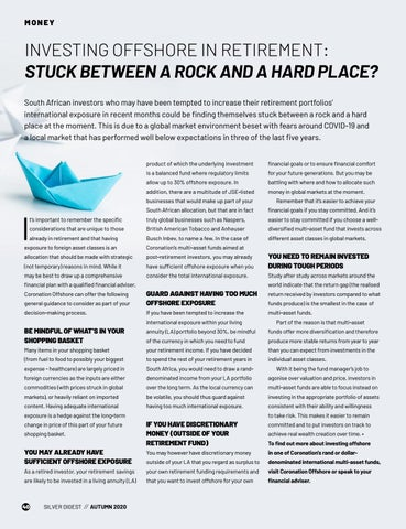 Page 40 of INVESTING OFFSHORE IN RETIREMENT: STUCK BETWEEN A ROCK AND A HARD PLACE?