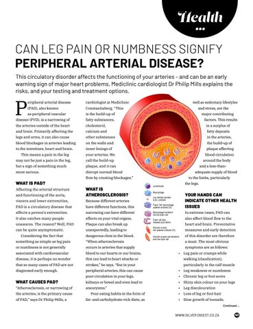 Page 41 of CAN LEG PAIN OR NUMBNESS SIGNIFY PERIPHERAL ARTERIAL DISEASE?