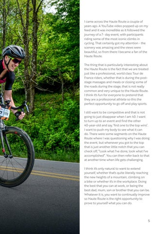 Page 5 of Reflections from a first-time Haute Route rider