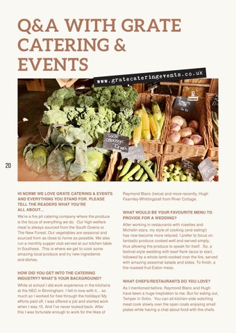 Page 20 of Q&A with Grate Catering Events