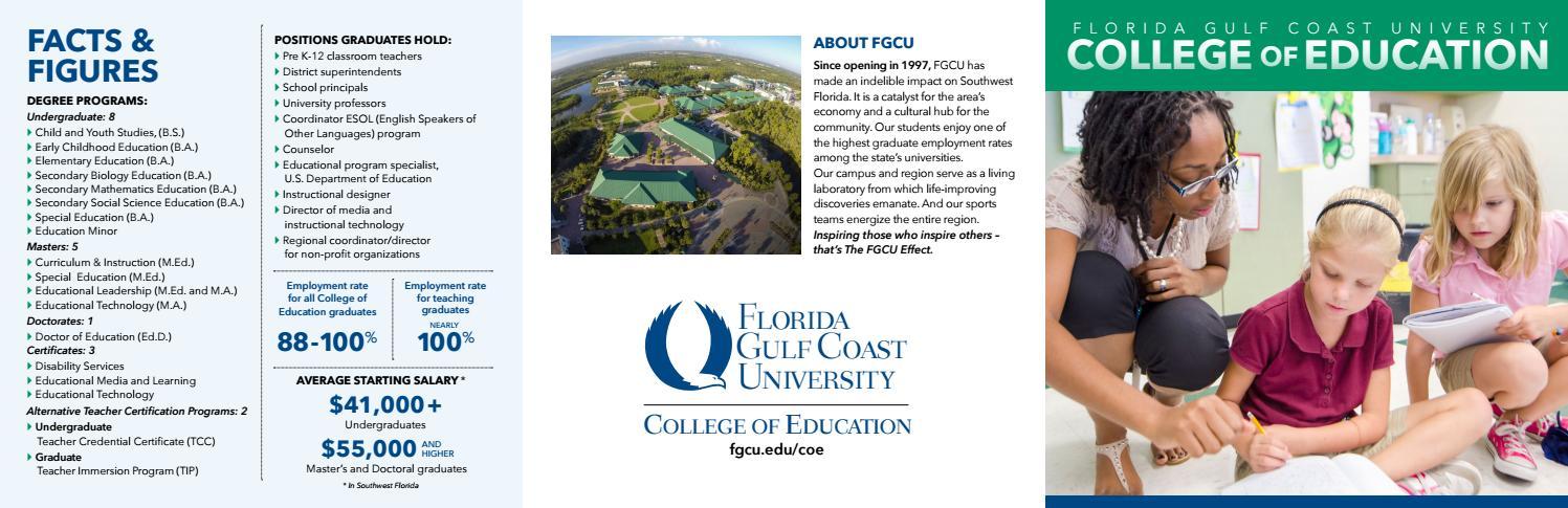College Of Education By Florida Gulf Coast University Issuu
