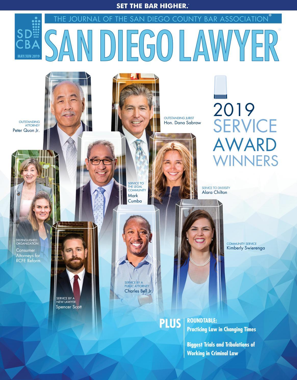 San Diego Lawyer May June 2019 By San Diego County Bar Association Issuu